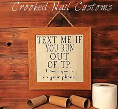 Bathroom Decor signs Excited to share this item from my shop: Text Me If You Run Out of TP Rustic Bathroom Vanities, Modern Bathroom Decor, Bathroom Signs, Bathroom Inspo, Bathroom Ideas, Pool Bathroom, Funny Bathroom, Bathroom Remodeling, Small Bathroom