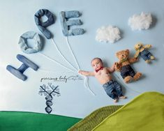 """""""Hope is in our Genes."""" The Precious Baby Project, raising awareness for babies with special needs. 5 month old boy with Trisomy 18 spreading hope while flying away with HOPE balloons. Amazing gene / DNA tree. Baby ImaginArt by Angela Forker, baby scenes, floor scenes, newborn creative, unique, cute, funny Precious Baby Photography New Haven, Fort Wayne, Indiana"""