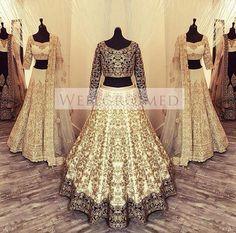 """A beautiful white colour palette presents timeless beauty with a modern twist""… Pakistani Outfits, Indian Outfits, Bridal Outfits, Bridal Dresses, Bollywood, Bridal Lehenga, Bridal Lenghas, Manish Malhotra Bridal, Desi Clothes"