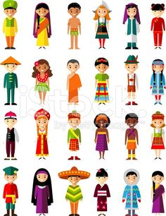 Vector illustration of multicultural national children, people on planet earth royalty-free stock vector art Free Vector Illustration, People Illustration, Free Vector Art, Character Illustration, Man Vector, Vector Vector, Country Costumes, Costumes Around The World, Cultural Diversity