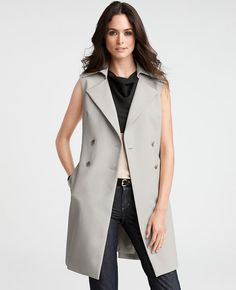 Sleeveless Trench Topper