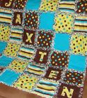 baby boy rag quilt with name