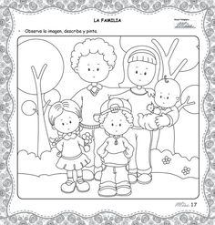Preschool crafts, School activities, English lessons, Classroom, Coloring for kids, School - Retoñitos  Revista para Educadores y Padres -  #Preschoolcrafts Preschool Education, Preschool Crafts, Worksheets For Class 1, School Border, Father's Day Activities, Learn Arabic Alphabet, Valentine Coloring Pages, Fun Projects For Kids, Family Theme