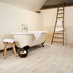 Browse the selection from IVC for flooring solutions like sheet vinyl flooring, luxury vinyl tile and plank and laminate flooring. Cushioned Vinyl Flooring, Vinyl Flooring Kitchen, Basement Flooring, Grey Flooring, Kitchen Tile, Flooring Ideas, Imitation Parquet, Deco Boheme Chic, Old Houses
