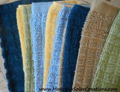 Easy Handmade Gift: DIY Cloth Napkins and Un-Paper Towels - Little House on the Prairie Living