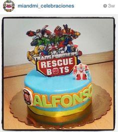 Rescuebots birthday cake by miandmi_celebraciones