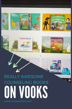 My favorite school counseling bokos on Vooks! These are great books for classroom guidance lessons, books for group counseling, books for school counseling, and great for school counseling activities! These books are easy to share for school counseling distance learning ideas or virtual school counseling lessons. Elementary School Counselor, School Counseling, Elementary Schools, Group Counseling, Community Building Activities, Counseling Activities, Guidance Lessons, Social Emotional Learning, Teaching Kids