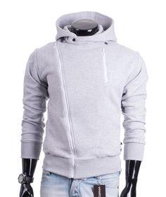 Szara rozpinana bluza męska z dużym kapturem i kieszeniami marki Carlo Lamon. Do kupienia tu: http://lamon.pl/product-pol-6139-Szara-rozpinana-bluza-meska-z-kapturem-Carlo-Lamon.html