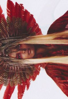 "Liya Kebede/Vogue Italia March 2003 ""Prêt-à-porter"" by Steven Meisel Tribal Fashion, Fashion Art, Boho Fashion, Fashion Beauty, Liya Kebede, Steven Meisel, Wild Hearts, Lady In Red, Editorial Fashion"