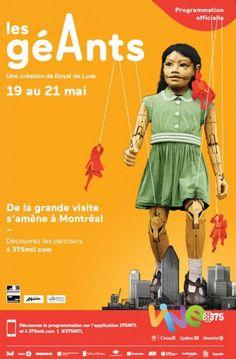 """""""Les Géants"""" La grande invitation Affiche"""