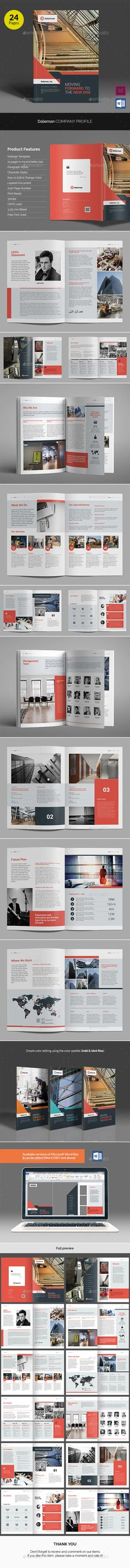 Daleman Company Profile Brochure Template InDesign INDD