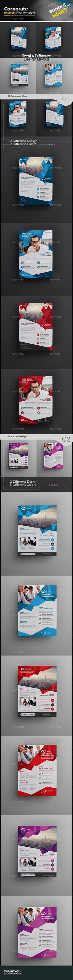 Buy Corporate Flyer by CRISTAL_P on GraphicRiver. Corporate Flyer Template Design is very easy to use and change text,color,shape,size,look and everything because i m. New Flyer, Corporate Flyer, Corporate Business, Corporate Design, Psd Flyer Templates, Business Flyer Templates, Business Card Design, Bi Fold Brochure, Brochure Design