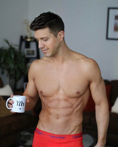 """2,742 Likes, 94 Comments - Tommy DiDario (@tommydidario) on Instagram: """"Good morning  #MyCalvins #fitness #menandcoffee"""""""