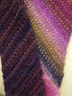 Diagonal knit lace scarf pattern (in Finnish) Knit Lace, Lace Scarf, Crochet Chart, Knit Crochet, Handicraft Ideas, Cowls, Scarfs, Crocheting, Shawl