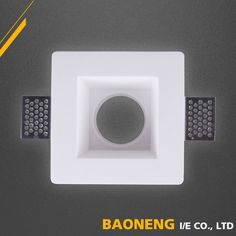 Modern indoor plaster gypsum ceiling light for MR16 GU10 bulb