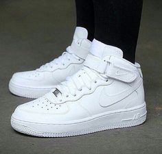 meet c26fa ffca7 All white uptowns. Forever classic. Nike Air Force High, Nike Shoes Air  Force