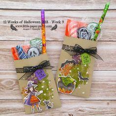 Little Paper Party, 12 Weeks of Halloween Cauldron Framelits, Beautiful Blizzard, halloween caldron Halloween Candy Crafts, Cute Halloween Decorations, Halloween Treat Bags, Halloween Tags, Halloween 2018, Holiday Crafts, Fun Crafts, Halloween Parties, Halloween Ideas