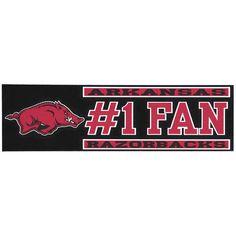 """Arkansas Razorbacks 3"""" x 10"""" #1 Fan Die Cut Decal - $4.79"""