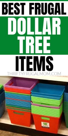 If you love to save money, check out this list of 35 of the best frugal buys at Dollar Tree!  Every thing from organizational items, to office supplies to household staples and more.  So many fun, surprising items!  #thriftyfrugalmom #dollartree #frugalliving #savemoney Money Tips, Money Saving Tips, Dollar Tree Finds, Ways To Save, Money Management, Mom Blogs, Frugal Living, Making Ideas, How To Make Money