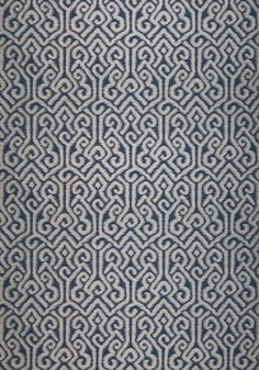 River Moon Ikat #fabric in #navy. #AnnaFrench #Thibaut -- Available through www.tritexfabrics.com