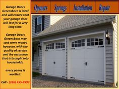 Garage Doors Greensboro operates as a 24/7 garage door company, and as such we are always ready to design service plans that meet the needs of our customers