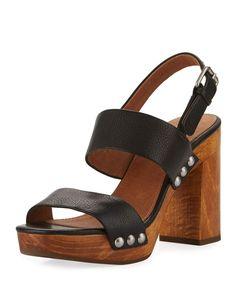 Frye Women's Tori Slingback Platform Sandals Women's Shoes In Black Block Heel Platform Sandals, Black Block Heel Sandals, Clog Sandals, Studded Sandals, Slingback Sandal, Strappy Sandals, Black Sandals, Shoes Sandals, Wooden Sandals