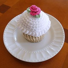 Crocheted Cupcake Pincushion on Etsy