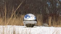 Alicia Framis' Cartas al Cielo in the snow in its current location at Avalon Park and Preserve (photo courtesy of Avalon)