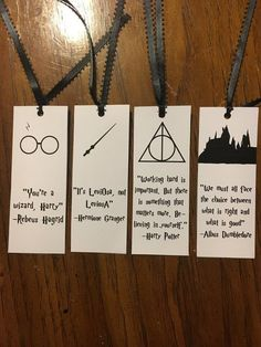 Set of four Harry Potter bookmarks by FarrahRemyCreations on Etsy #HarryPotter