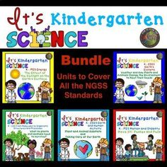 SAVE LOTS OF TIME, ENERGY, and MONEY when you buy this BUNDLE! All the ideas you need to teach Kindergarten NGSS are in these units. Included within the units are: - The Standards and Materials needed page (all inexpensive, practical suggestions) - Detailed Lesson Plans - Essential Vocabulary Cards - Posters ( with photos) - Picture Sorts - Mini Books - STEAM Challenges - Charts - Worksheets - Suggestions of Books to Read - Suggestions of YouTube Videos