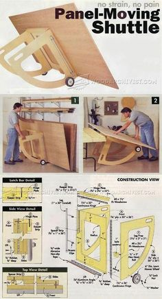 Carretilla para laminas de madera