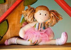 BAMBOO BRITTNEY Girl Rag Doll Cloth Doll by DressyDollsCompany, $58.00
