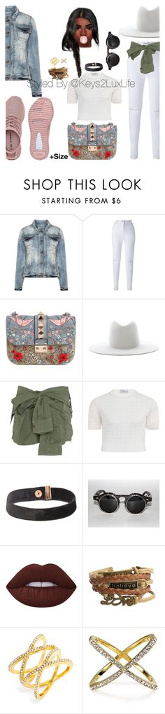 """+Size"" by keys2luxlife on Polyvore featuring Studio, Valentino, Janessa Leone, Faith Connexion, Elvi, BaubleBar, stylish, plussize and styleicon"