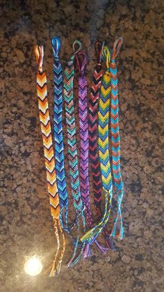 Simple, six thread, braided friendship cotton bracelets. Varying sizes and colors are definitely available. DM me if you Kandi Bracelets, Thread Bracelets, Embroidery Bracelets, Summer Bracelets, Bracelet Crafts, Cute Bracelets, Ankle Bracelets, Beaded Bracelets, String Bracelets