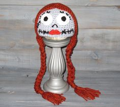NEWBORN Sally Nightmare Before Christmas crochet hat by WICKEDWEBZ