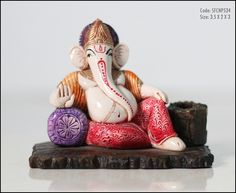 Resin #Ganesh #Statue with #PenStand shop now from online #handmade shopping store #craftshopsindia