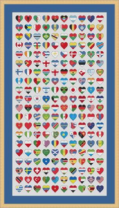 Flags of the World Cross Stitch Chart by HollysHobbiesUK on Etsy, £4.99: