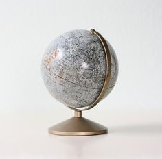 vintage #Moon globe (the moon mapped out!) Want!!!!  #ScienceGeek