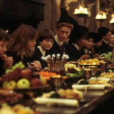 """Let the feast begin!"" - Dumbledore #HarryPotter"