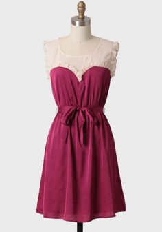 Ruche Dress... would be perfect for Valentines Day or a date night