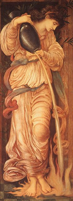 Burne-Jones- Temperantia, 1872, watercolor, now in a private collection.