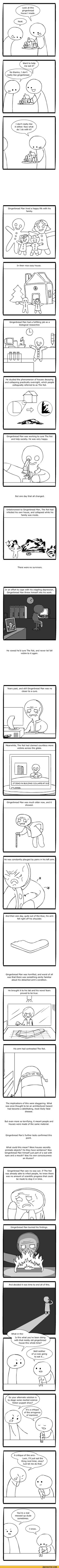 Gingerbread man and the rot love Cyanide and Happiness!!