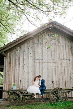 Adorable barn wedding with the perfect touch of whimsy. Photo by Nadia Meli www.wedsociety.com