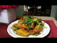 ปลานิลผัดขึ้นฉ่าย Stir Fried Fish with Chinese Celery Ingredients Fish 200 g All - purpose flour 1 cup Cooking oil 2 cups Sugar 1 tbsp soy bean sauce 1 tbsp water 3 tbsp Garlic chopped 1 tbsp Ginger 2 tbsp chili 1 tbsp Chainese Celery 1 cup Sesame oil 1 tsp  I hope you like this video!It would mean so much to me if you shared this recipe with your friends. * I hope this video was fun and helpful and that you enjoy your homemade *Please subscribe my channel. Thank you! *Please comeback to…
