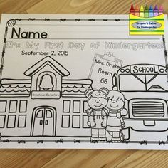 PRINTED FREE editable coloring page for the first day of school! Preschool, Pre-K, Kindergarten, TK and First Grade included! Kindergarten First Week, Welcome To Kindergarten, Kindergarten Coloring Pages, Kindergarten Colors, Welcome To School, School Coloring Pages, Kindergarten Activities, Kindergarten Classroom, Classroom Activities