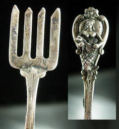 Antique Mermaid Brooch silver sea Goddess by NeatstuffAntiques