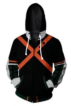 Mens Hoodie Sweatshirt Deku My Hero Academia Humor Tops Popular Rock Graphic Sweater Pullover Black
