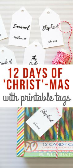 12 Days of Christ-mas- Christ-centered Christmas Gift Idea with printable tags and gift ideas