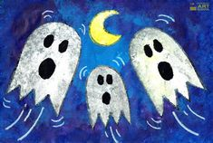 NEW Lesson: Spooky Ghosts - Online art lesson by Easy Peasy Art School. Art Lessons For Kids, Art Activities For Kids, Art For Kids, Teacher Lesson Plans, Art Lesson Plans, Ghost Online, Elementary Art Rooms, Easy Peasy, Shakespeare