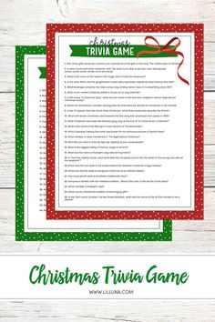 This Christmas Trivia game will be the perfect addition to your next holiday party and will provide not only thinking but laughs too! Christmas Song Trivia, Free Christmas Songs, Christmas Trivia Questions, Fun Christmas Party Games, Xmas Games, Christmas History, Favorite Christmas Songs, Holiday Games, Free Christmas Printables